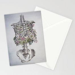 Floral Anatomy Skeleton Stationery Cards