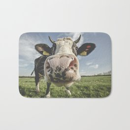 Inquisitive Cow Bath Mat