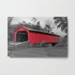 Utica Mills Covered Bridge Metal Print