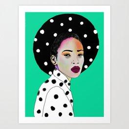 Dot on dot day Art Print