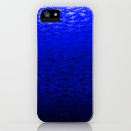 Sharks In A Blue Hue iPhone Case