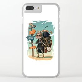 It is never too late to travel around the world Clear iPhone Case