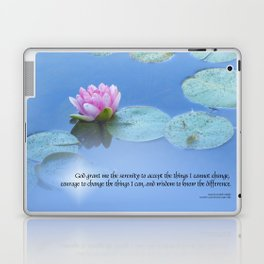 Serenity Prayer Pink Water Lily Laptop & iPad Skin