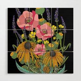 Wildflowers Wood Wall Art