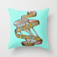 forever young Throw Pillows featuring Forever Young by Blasto17