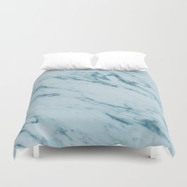 Alberto Verde - green marble Duvet Cover