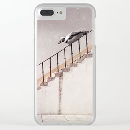 sea temperature stairway Clear iPhone Case