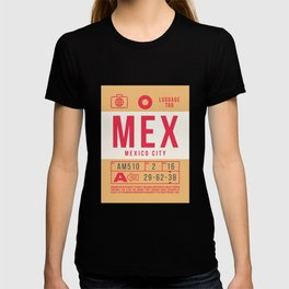 Retro Airline Luggage Tag 2.0 - MEX Mexico City International Airport Mexico T-shirt