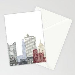 Columbus skyline poster  Stationery Cards