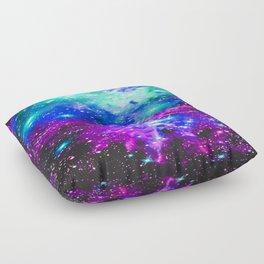Fox Fur Nebula Galaxy Pink Purple Blue Floor Pillow