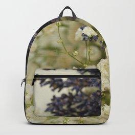 Lavender on gypsophila Backpack