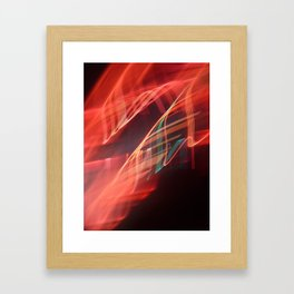 Energetic abstract light Framed Art Print