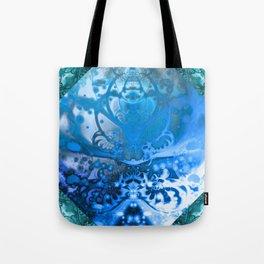 Meditating Entity (blue) Tote Bag