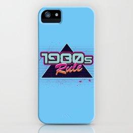 1980s Rule iPhone Case