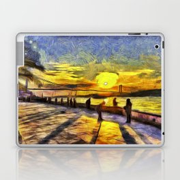 Sunset Fishing Istanbul Van Gogh Laptop & iPad Skin