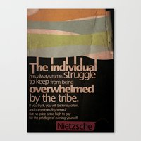 nietzsche Canvas Prints featuring Humanity — Nietzsche by Sergey Skip