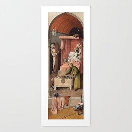 Hieronymus Bosch - Death and the Usurer Art Print