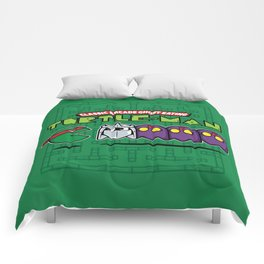 Hero in a Pac-Shell (Raph) Comforters
