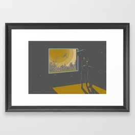 Morning halucination Framed Art Print