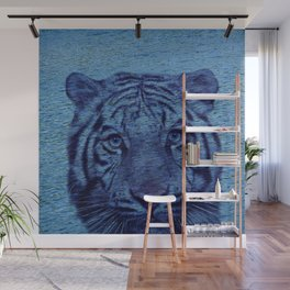 Tiger and Water Wall Mural