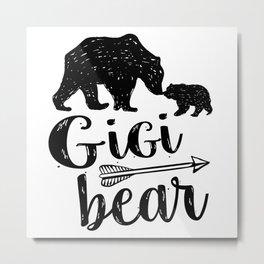 Gigi Bear Great Grandma Gift Metal Print