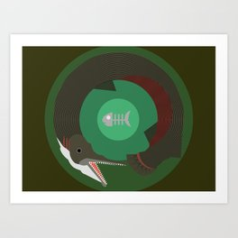 Alligator Gar Art Print