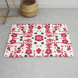 Bloody Blossoms Rug