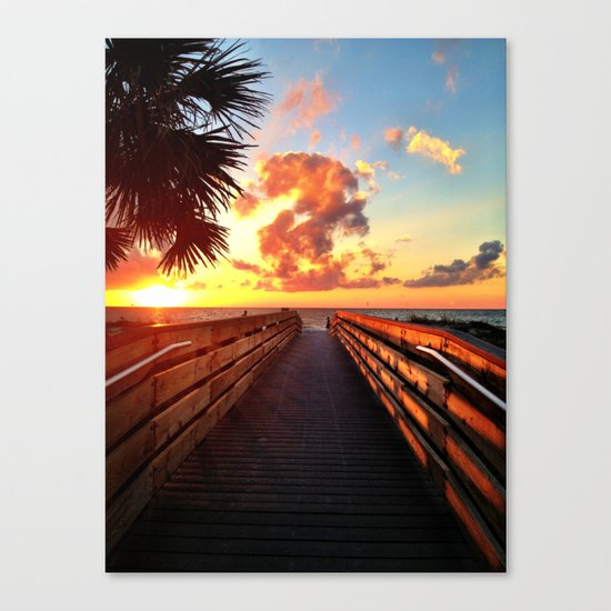 Lead me to the sun Canvas Print