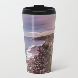 Ocean Rocks Metal Travel Mug
