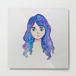 Little Galaxy Girl Metal Print