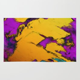 Yellow erosion Rug