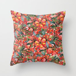 Rouge Bonheur Throw Pillow