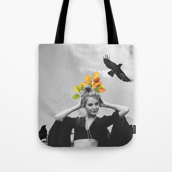 CROW GIRL Tote Bag