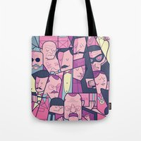 budapest Tote Bags featuring Grand Hotel by Ale Giorgini