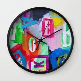 Alphabet City Wall Clock