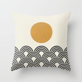 Sun & Wave - Oriental Pattern Throw Pillow