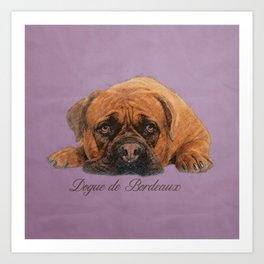 Dogue de Bordeaux Sketch Digital Art Art Print