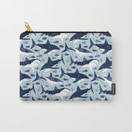 Sharks On Pale Blue Carry-All Pouch