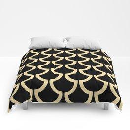 MODERN SCALES GEOMETRIC | black beige Comforters