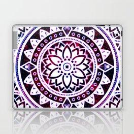 Glowing Flower Mandala Red White Pink Blue Laptop & iPad Skin