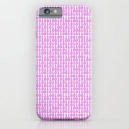 Binary Hot Pink iPhone Case