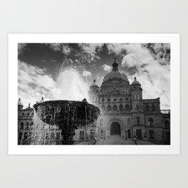 Victoria Parliament Building Art Print