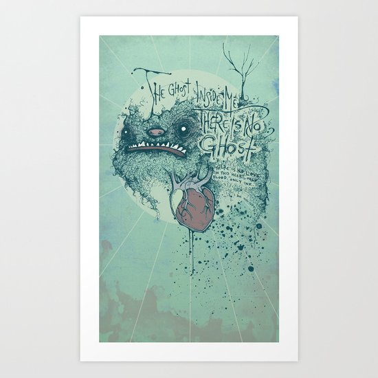 Ghost inside Art Print