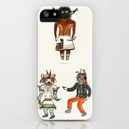 Hopi Katcinas - Piokot Turkwinu Turkwinu Mana (1895) drawn by the native people from the book of Jes iPhone Case