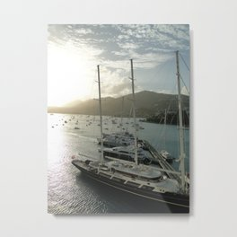 Some boats in the Caribbeans  Metal Print