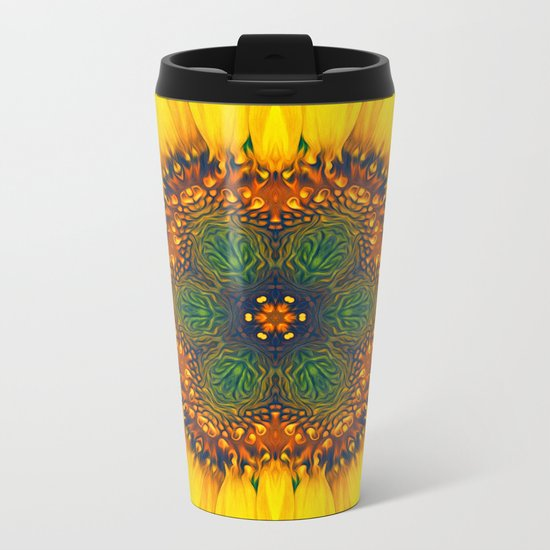 Structure of A Sunflower Metal Travel Mug
