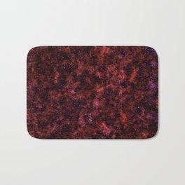 Red Rust Galaxy Bath Mat