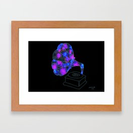 swirls - grammaphone Framed Art Print