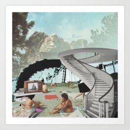 Mt. Rushmore Beach Art Print