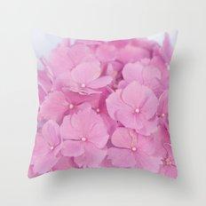 Light-Pink Hydrangeas #1 #decor #art #society6 Throw Pillow